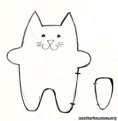 Шаблоны мягких игрушек кот