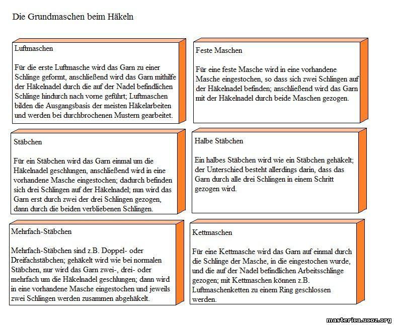 вязание крючком обозначения в немецких схемах немецкие обозначения