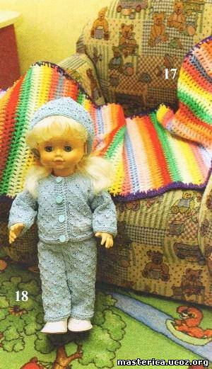 Вязаный костюм для куклы,