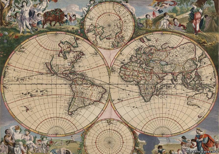 Схема вышивки крестом - карта