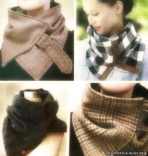 5 простых самодельных шарфов из флиса 392