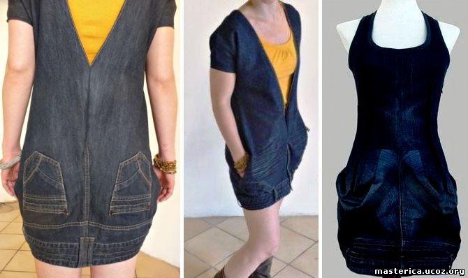 f4c434e446ca6 Шьем сарафан и юбку из старых джинсов своими руками - МОДЕЛИ ДЛЯ ...