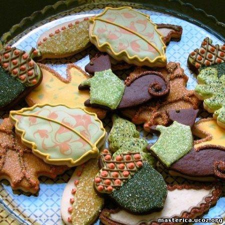 осенние печенья