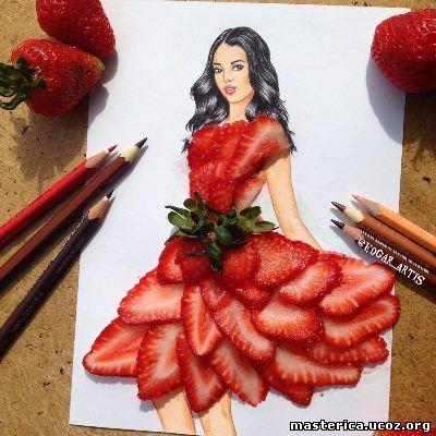 платье из клубники
