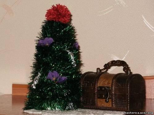 новогоднее украшение елочка-талисман