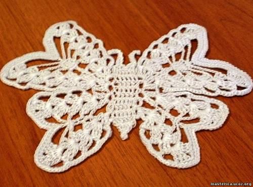 салфетка в виде бабочки