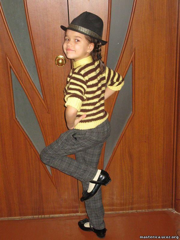 Кофточка крючком - полосатая кофта для девочки