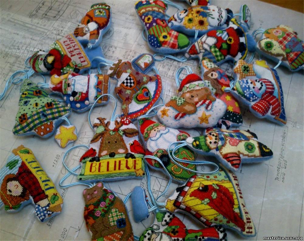 Вышивки крестом игрушек для елки