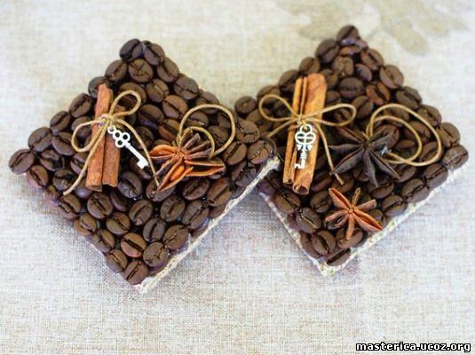 кофейные магниты на холодильник