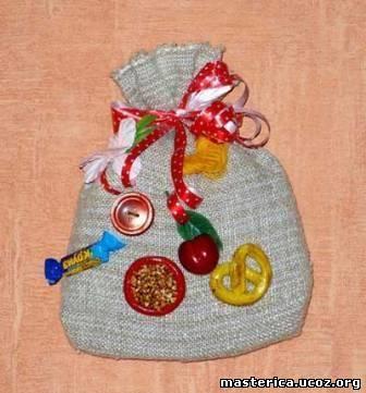 Красивый мешочек для подарка своими руками 144