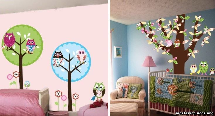 Чем разрисовать стены в детской
