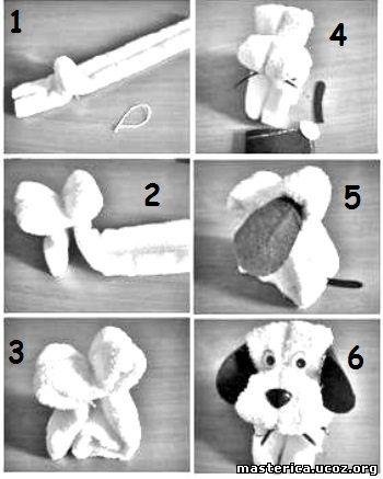 Как сделать собачку из полотенца своими руками 25